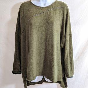 Zara Olive Green Oversized Pullover Sweater